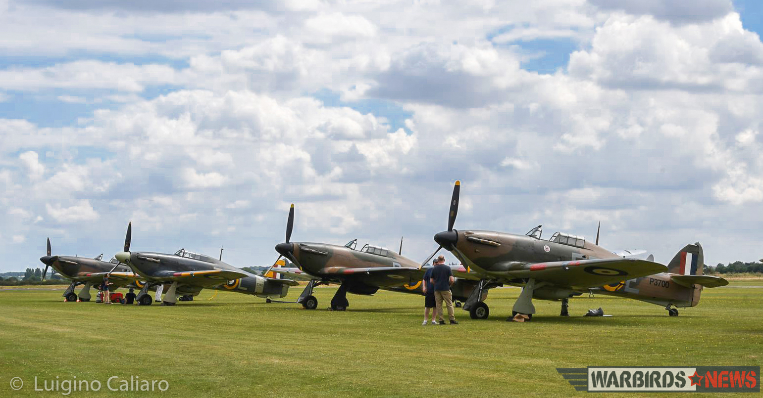 Four of the five Hawker Hurricanes which took part in the display! (photo by Luigino Caliaro)