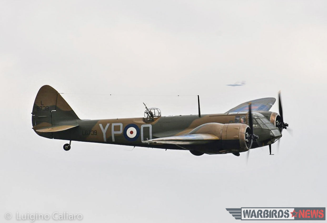The Blenheim makes a low pass. (photo by Luigino Caliaro)