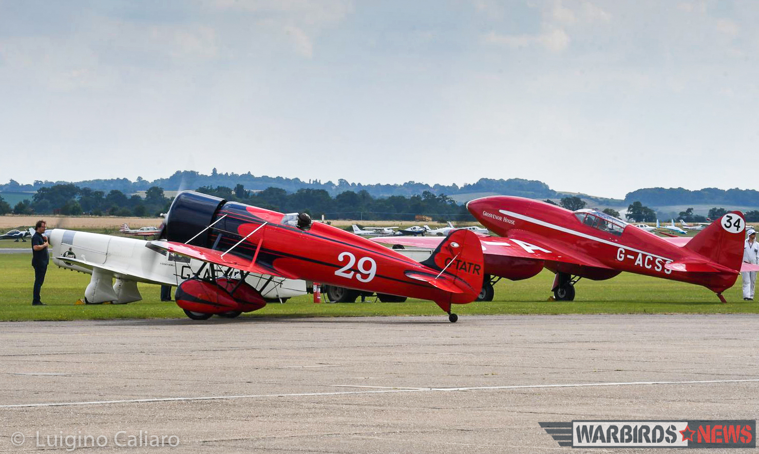 The racers taxiing out for takeoff. (photo by Luigino Caliaro)