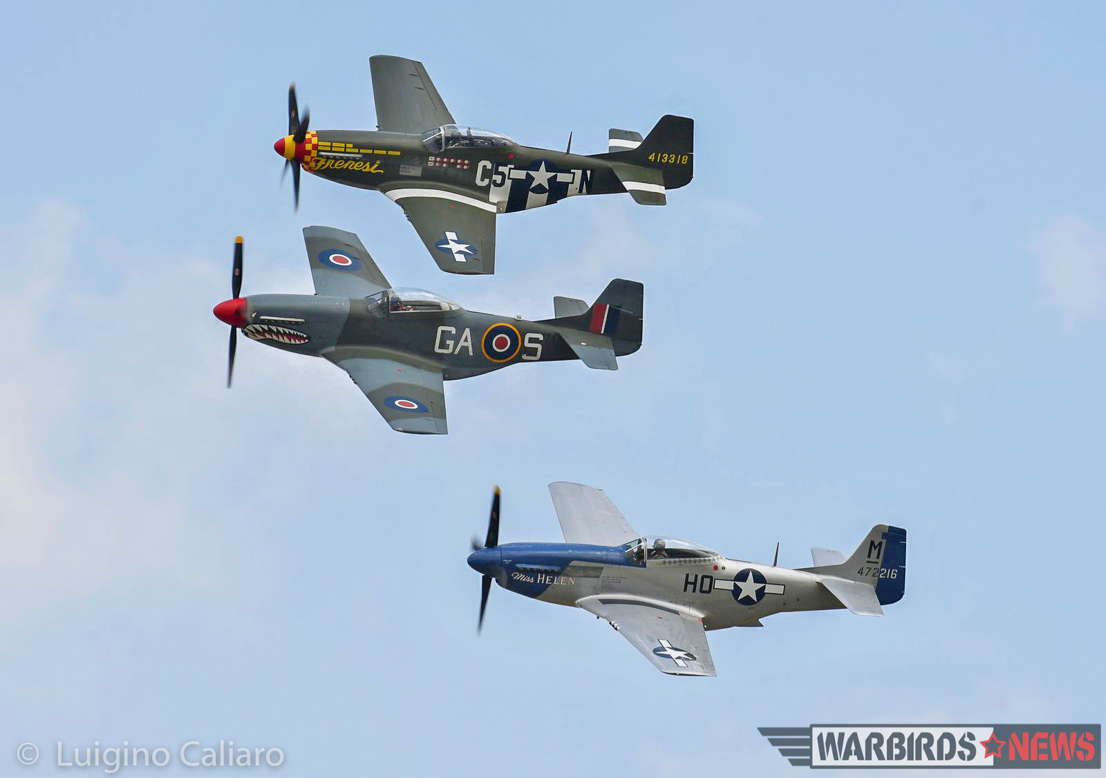 Some of the Mustangs in formation. (photo by Luigino Caliaro)