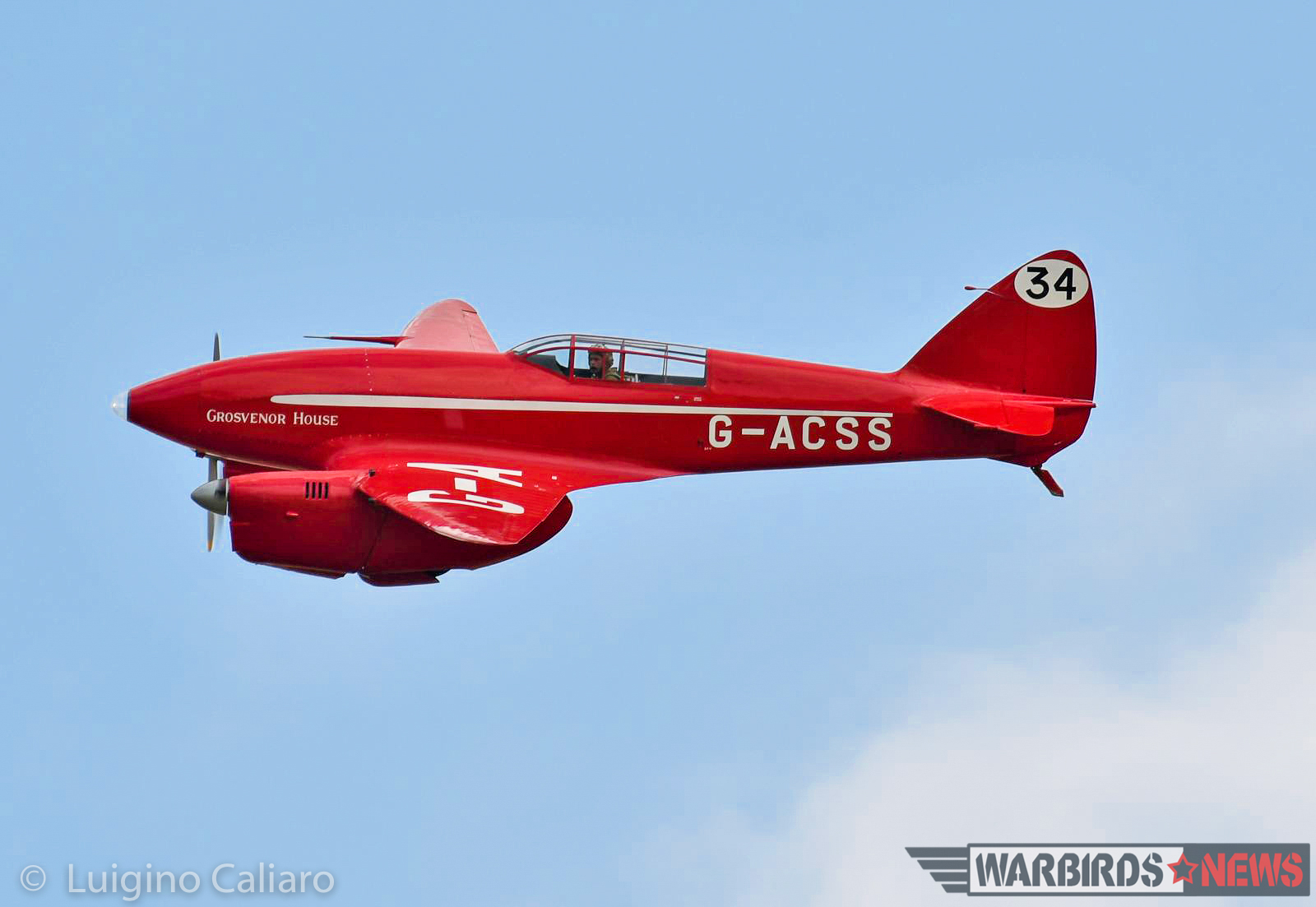 The legendary DH.88 Comet 'Grosvenor House' owned by the Shuttleworth Collection. This very aircraft won the London-to-Sydney McRobertson Air Race in 1934. (photo by Luigino Caliaro)