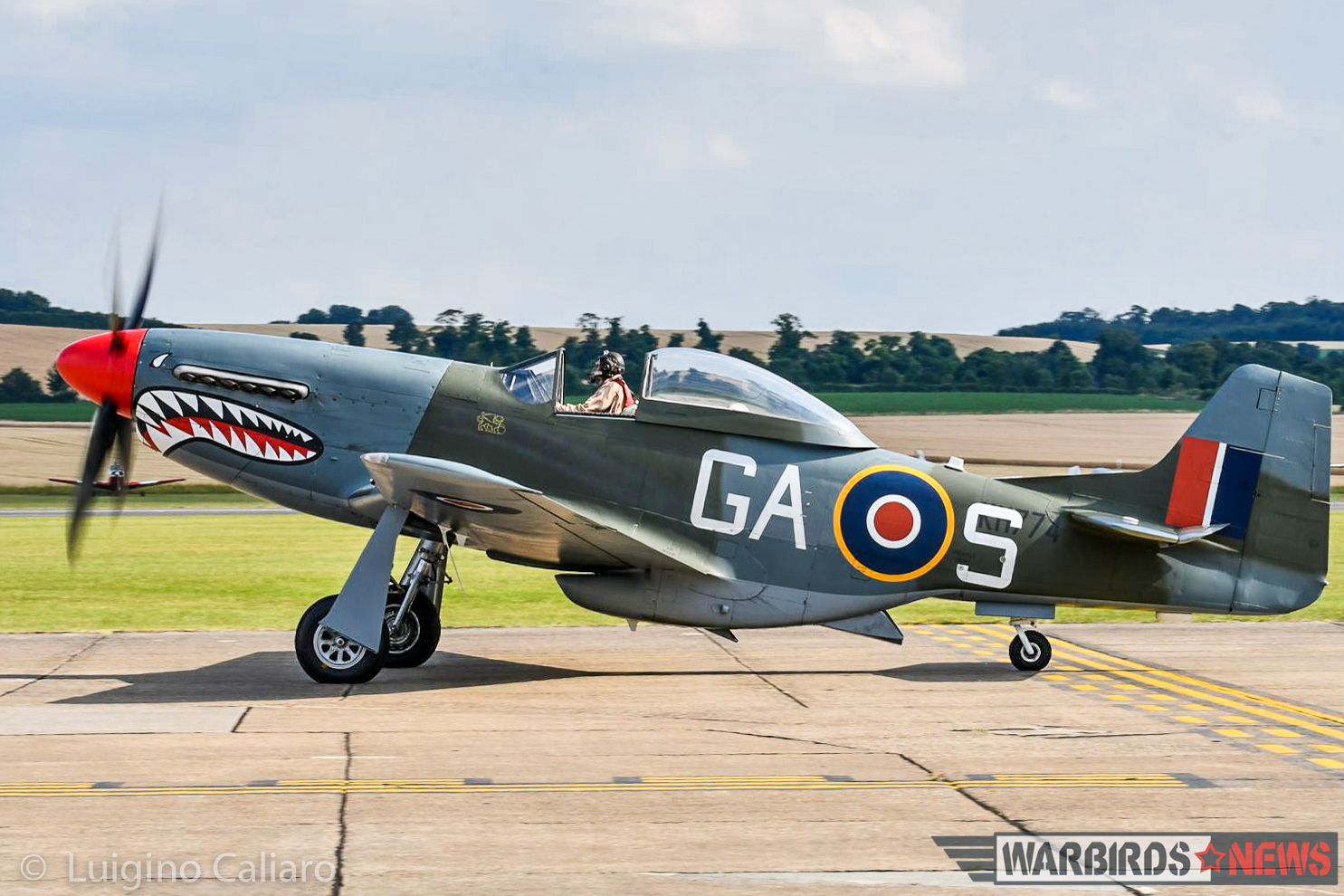 Shaun Patrick's magnificent P-51D 44-73877 (marked as an RAF Mustang IV KH774). (photo by Luigino Caliaro)