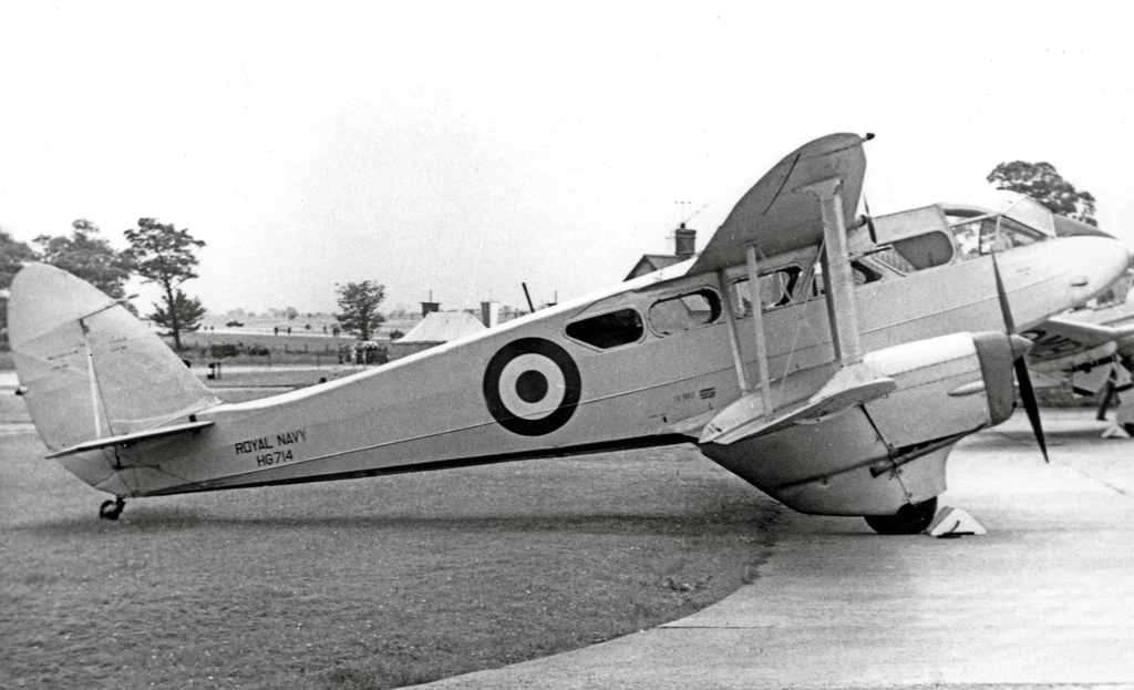 H.89 Dominie HG714 of the Royal Navy at RNAS Stretton in 1955 ( Image by RuthAS)