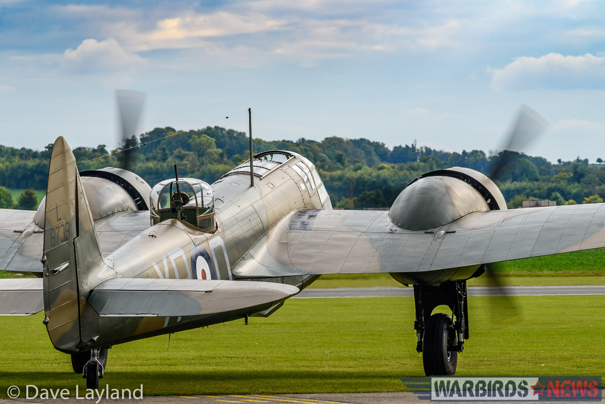 ARCo's Bristol Blenheim on the ground waiting to take off. (photo by Dave Layland)