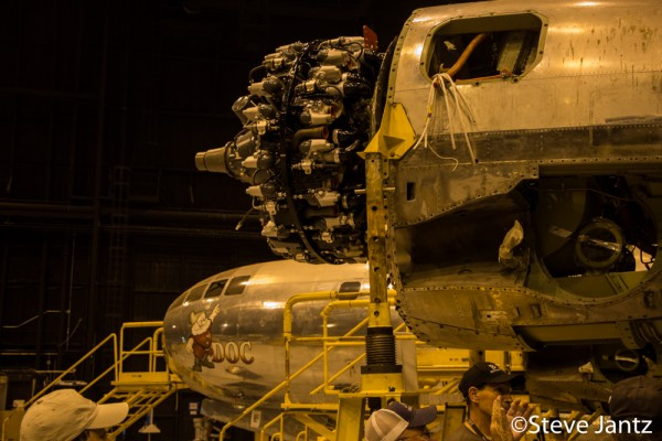 Engine number one was successfully installed last Saturday. ( Image credit Steve Jantz)