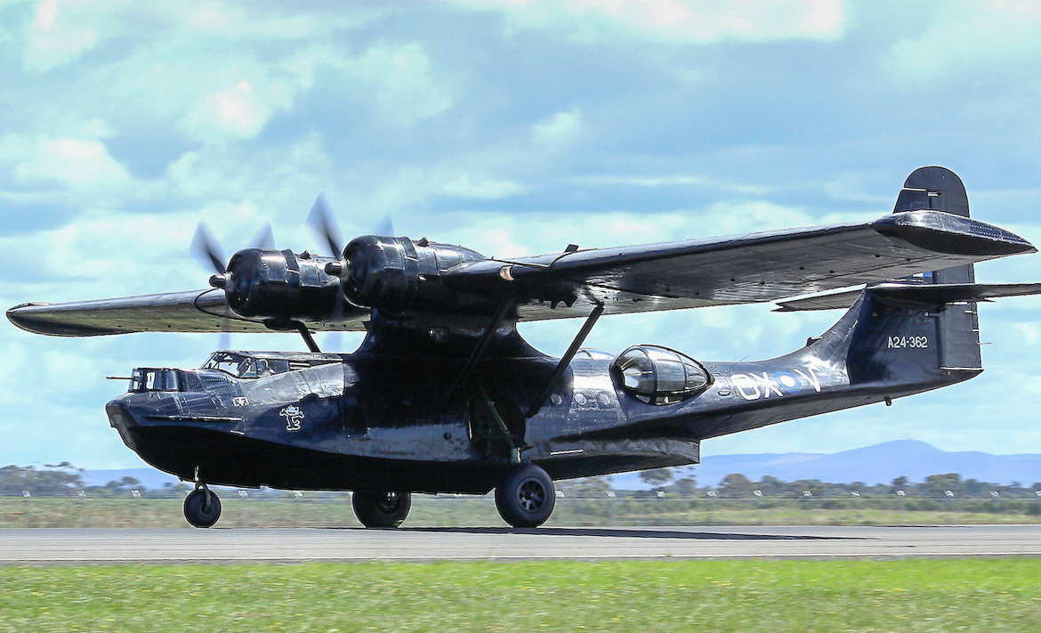 The HAARs Catalina in its 'Black Cat' scheme. (photo by Andrew Mclennan)