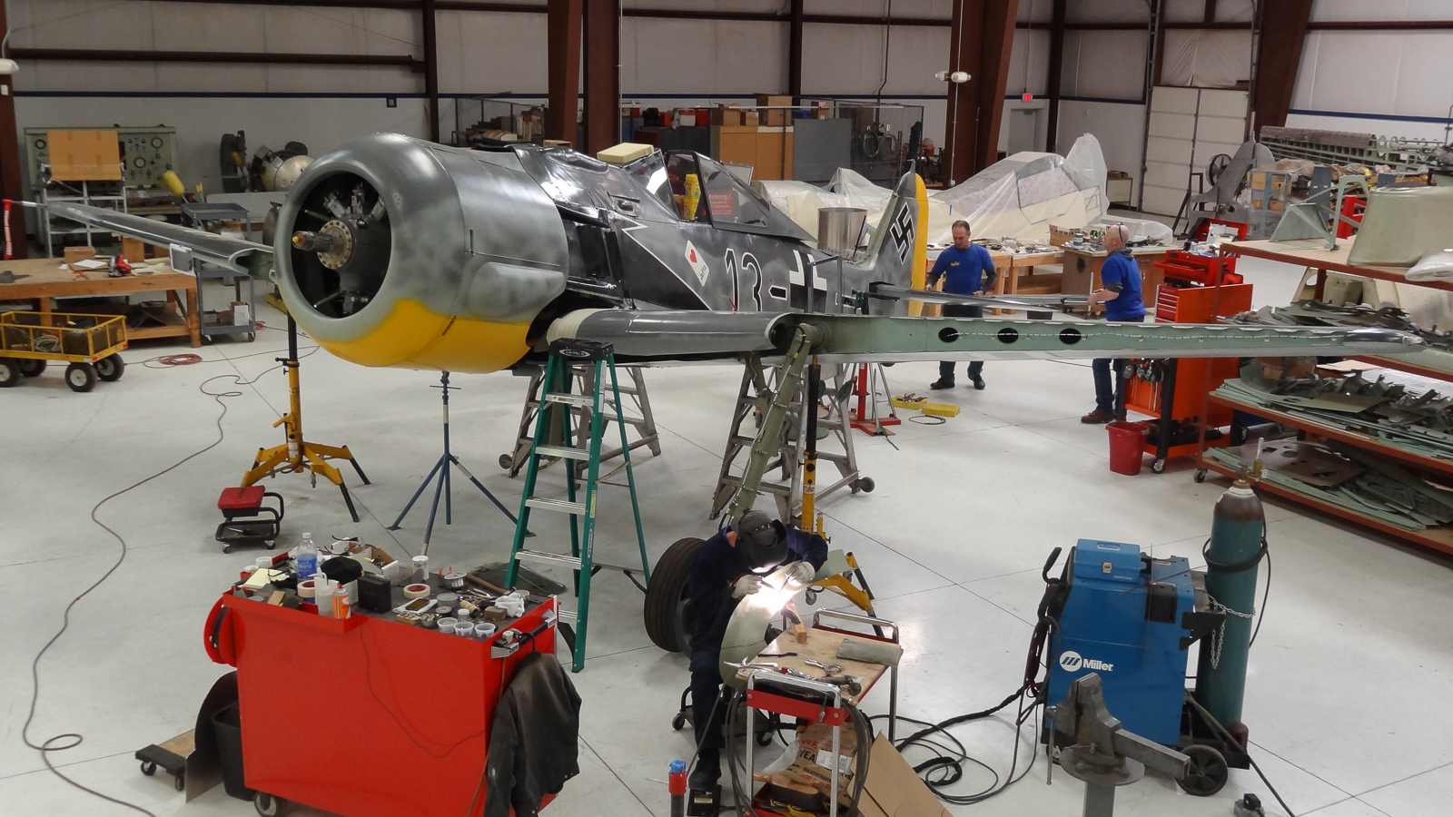 Another view of the installed engine now with its cowling on. (photo via GossHawk Unlimited)