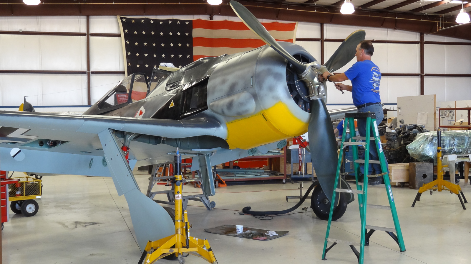 Installing the propeller. (photo via GossHawk Unlimited)