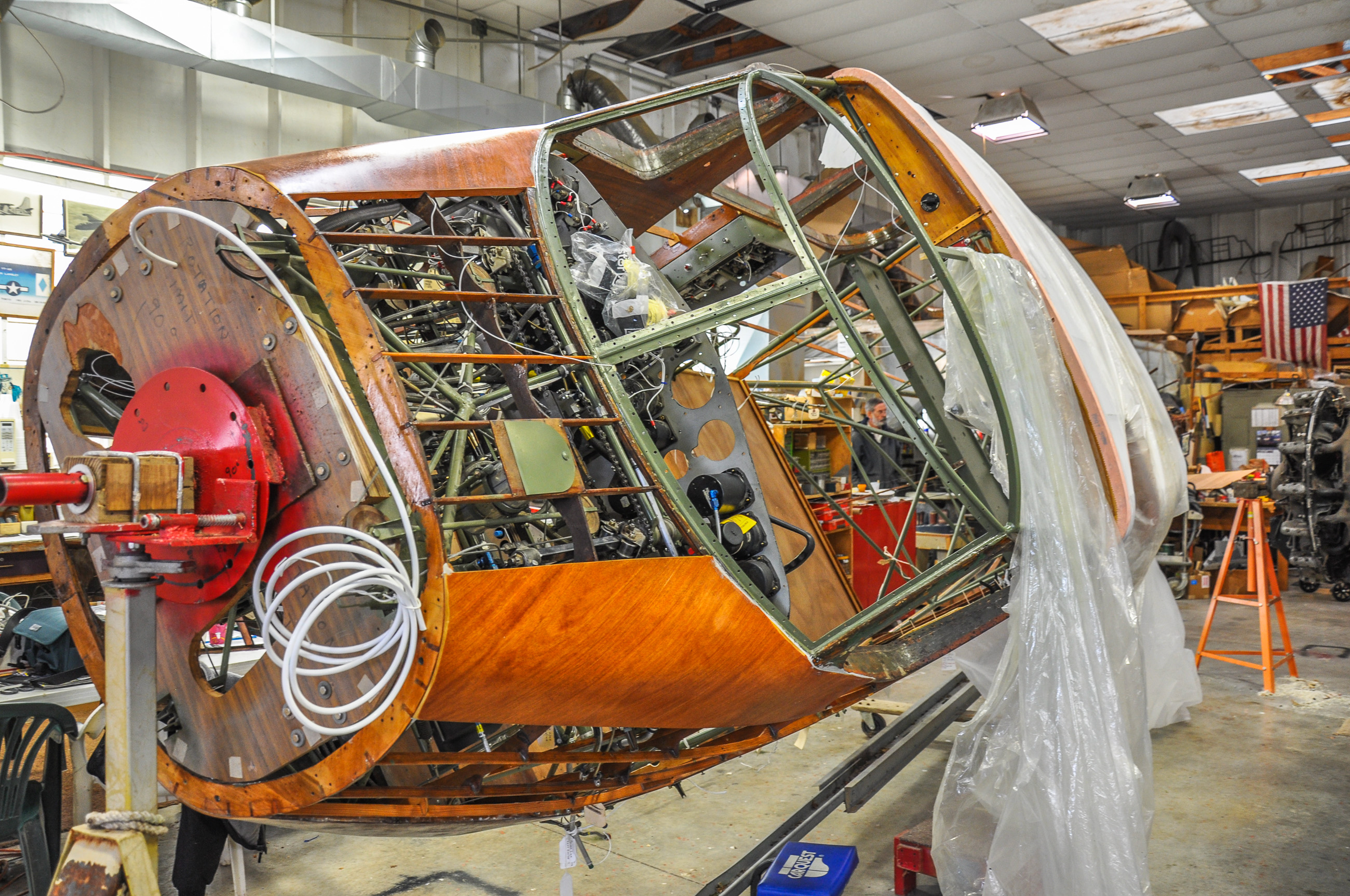 The UC-78 in the rotisserie (taken November 2014). (photo by David Cohen)