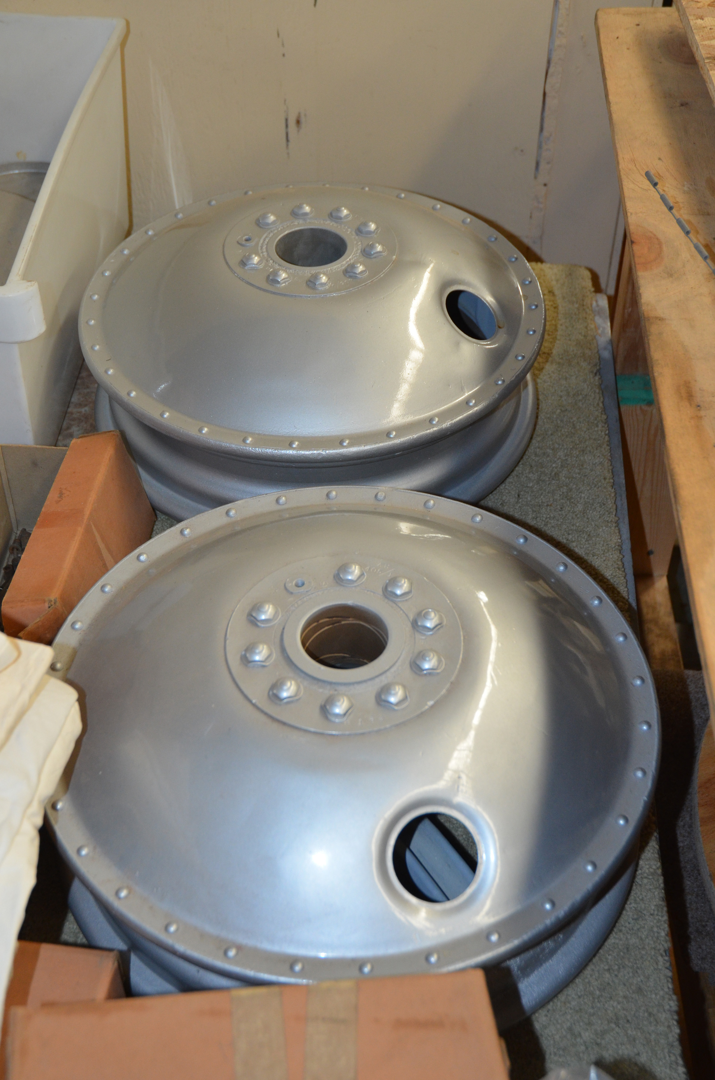 A pair of beautifully restored wheels for the Demon project.
