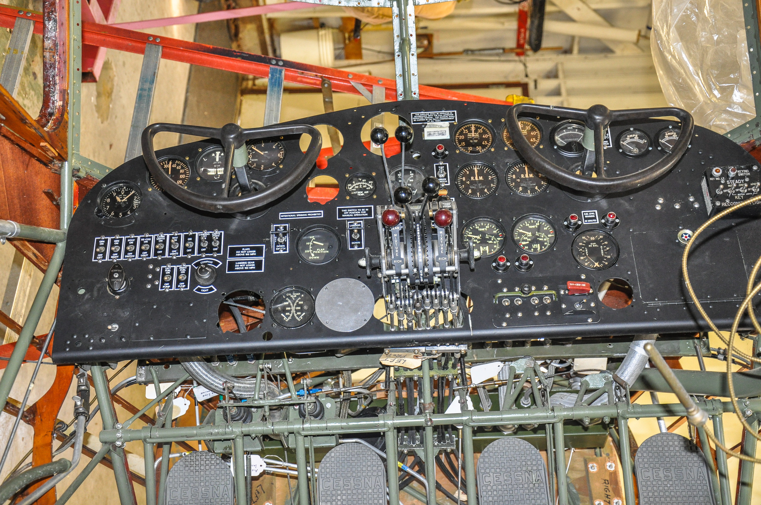 Detail of the instrument panel. (photo by David Cohen)