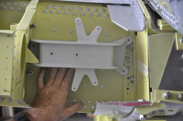"""The actual part was produced using a special plastic resin and them """"dry-fitted"""" on the aircraft."""