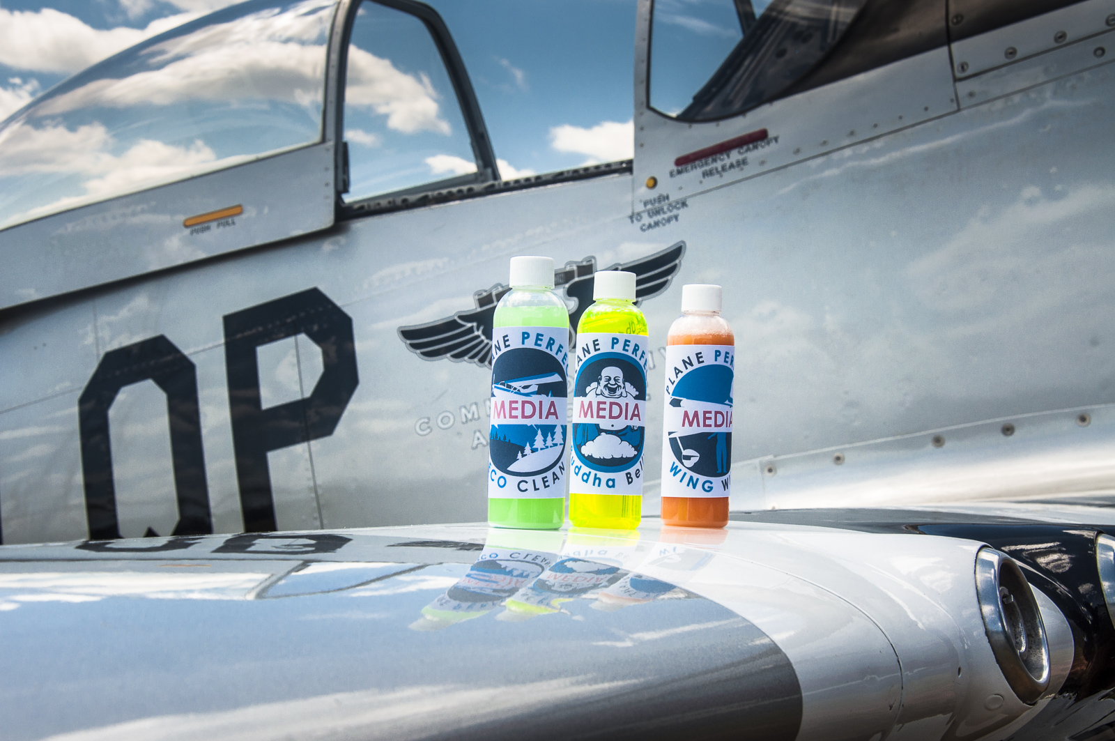Plane Perfect's primary products Eco Clean, Buddha Belly and Wing Wipe make short work of cleaning and protecting the surface finishes on your aircraft, bike or automobile...