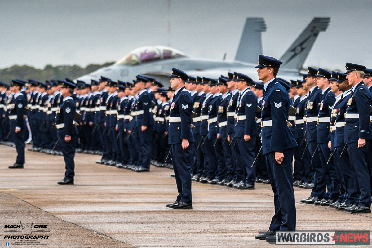 Over 250 Officers and Airmen were on parade from Nos. 1, 2, 3, and 4 Squadron for the ceremonial parade. (Photo by Matt Savage/Mach One Photography)