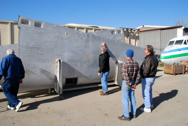 Collecting the unrestored wings from storage in Chino - Jan.2009 - Dan Newcomb photo