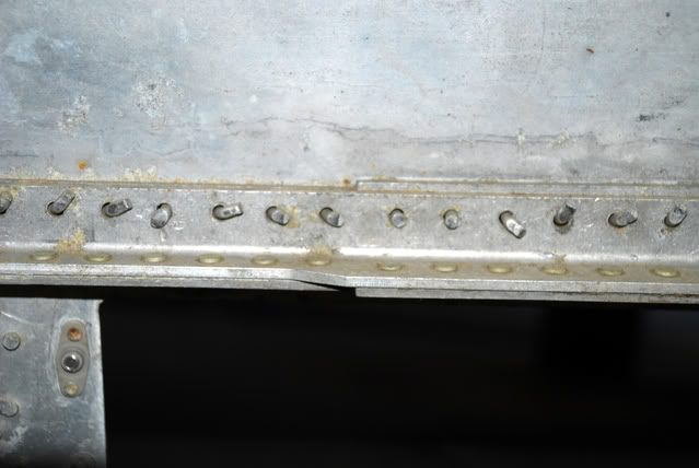 Just one of the scary repair jobs from decades past that the CAF found inside the outer wing panels - Feb.2009 - Dan Newcomb photo