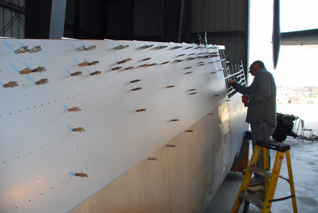 Reskinning portions of the starboard outer wing panel - Feb.2010 - Dan Newcomb photo