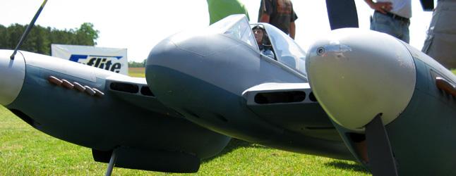 Dave Platt's amazing RC Scale model of a deHavilland Hornet. (photo via Warbird Radio)