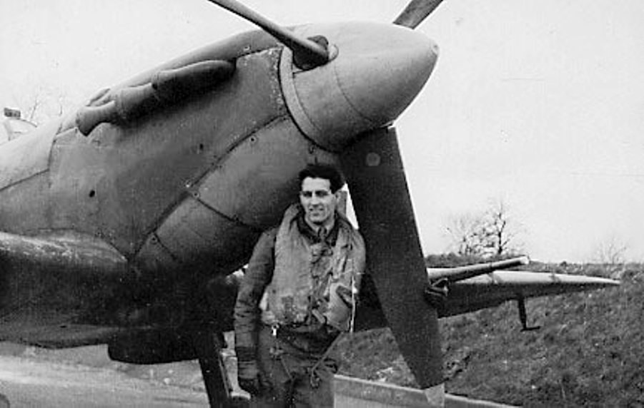 Don Gentile with his Spitfire Vb while serving with 133 Squadron from Biggin Hill in 1942 (photo via IWM)