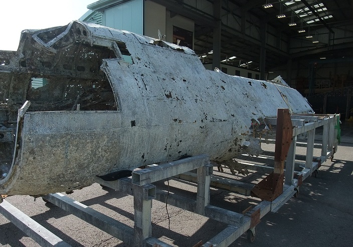 Dornier Fuselage moves into Conservation Center.('©Trustees of the Royal Air Force Museum')