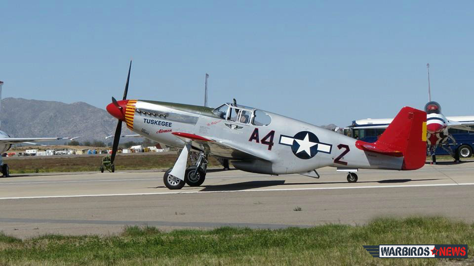Doug Rozendaal put on a masterful performance in the CAF's P-51C. (photo by Elena DePree)