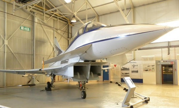 Built by British Aerospace as the sole example of the Experimental Aircraft Programme technology demonstrator, as part of the development of a new agile air superiority fighter, which eventually appeared as the Eurofighter Typhoon, (which first flew as the European Fighter aircraft (EFA) in March 1994).