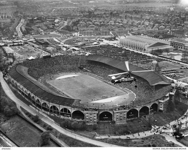 FA Cup Final Wembley Stadium (Empire Stadium), Wembley Park, London, 27 April 1935. ( © English Heritage. Aerofilms Collection)