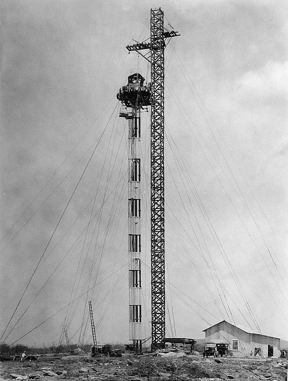 The 100-foot airship mooring mast erected in 1925 was the first aviation-related structure at Ewa.