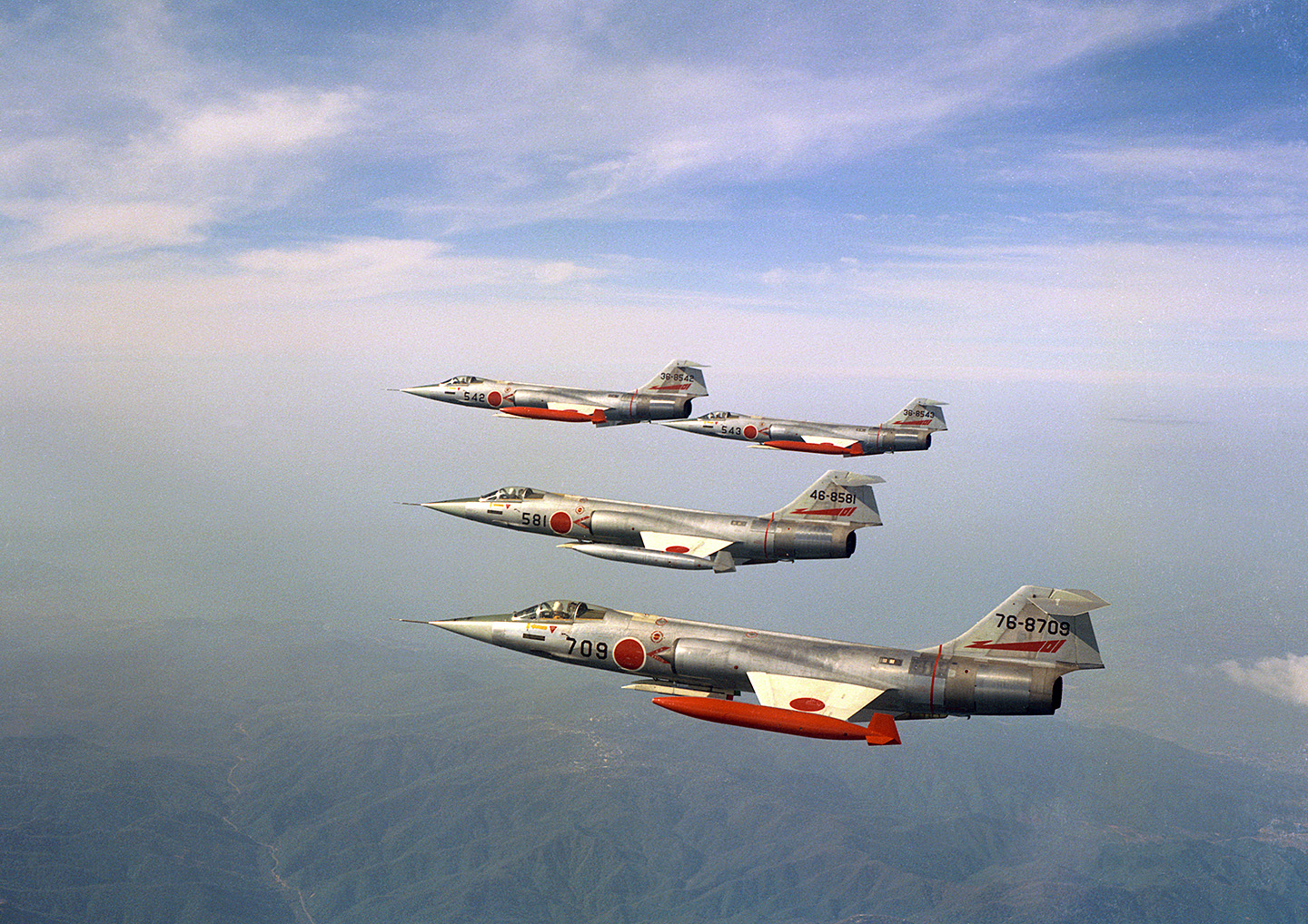 F-104Js flying over Japan. (photo via JASDF Chitose Air Base)