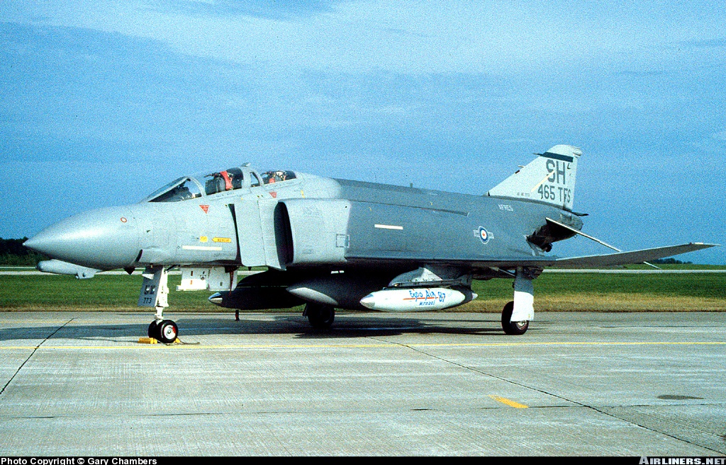 "507 TFG / 465 TFS Squadron commander's aircraft. Travel pod on left wing pylon has special markings for Expo '87. US insignia has been ""zapped"" with a Canadian roundel sticker. Contact Gary Chambers"