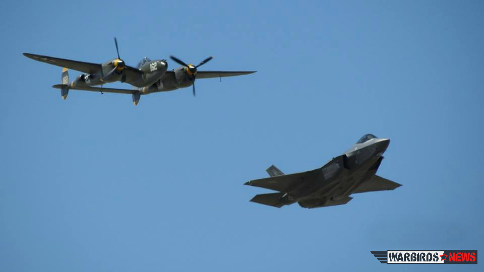 he F-35 alongside its namesake, the P-38 Lightning. (photo by Elena DePree)