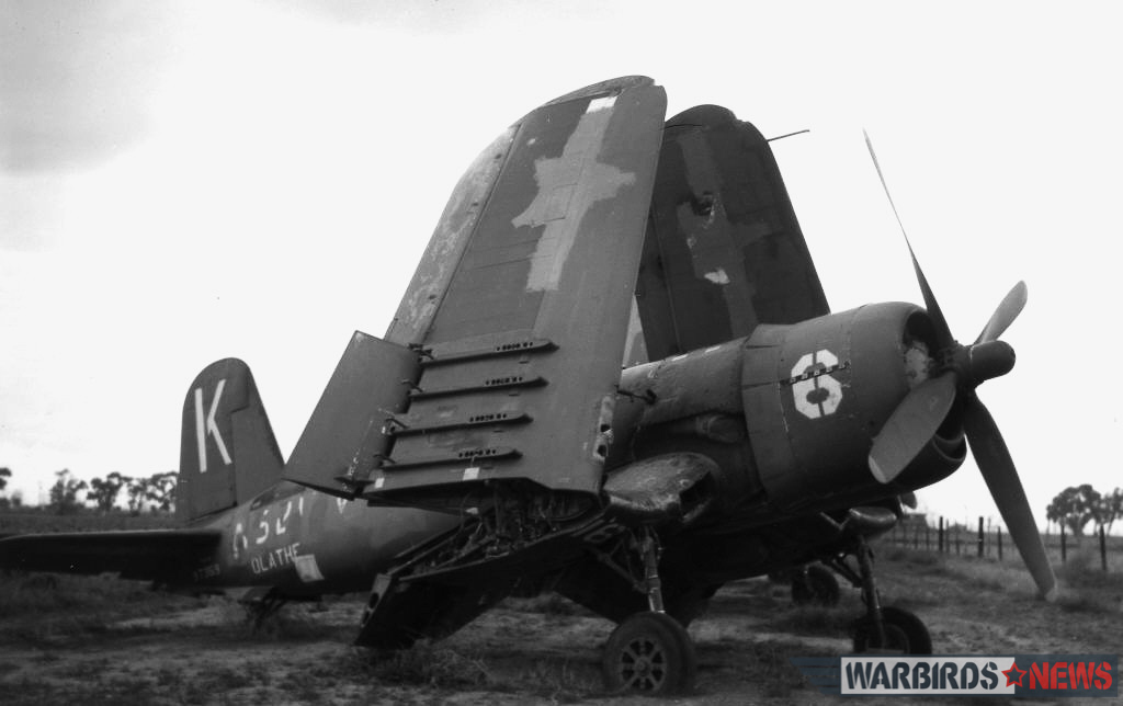 F4U-4 Bu.97359 while in storage with Bob Bean at Mosely Field in Arizona during 1960. (photo via Jim Sullivan)