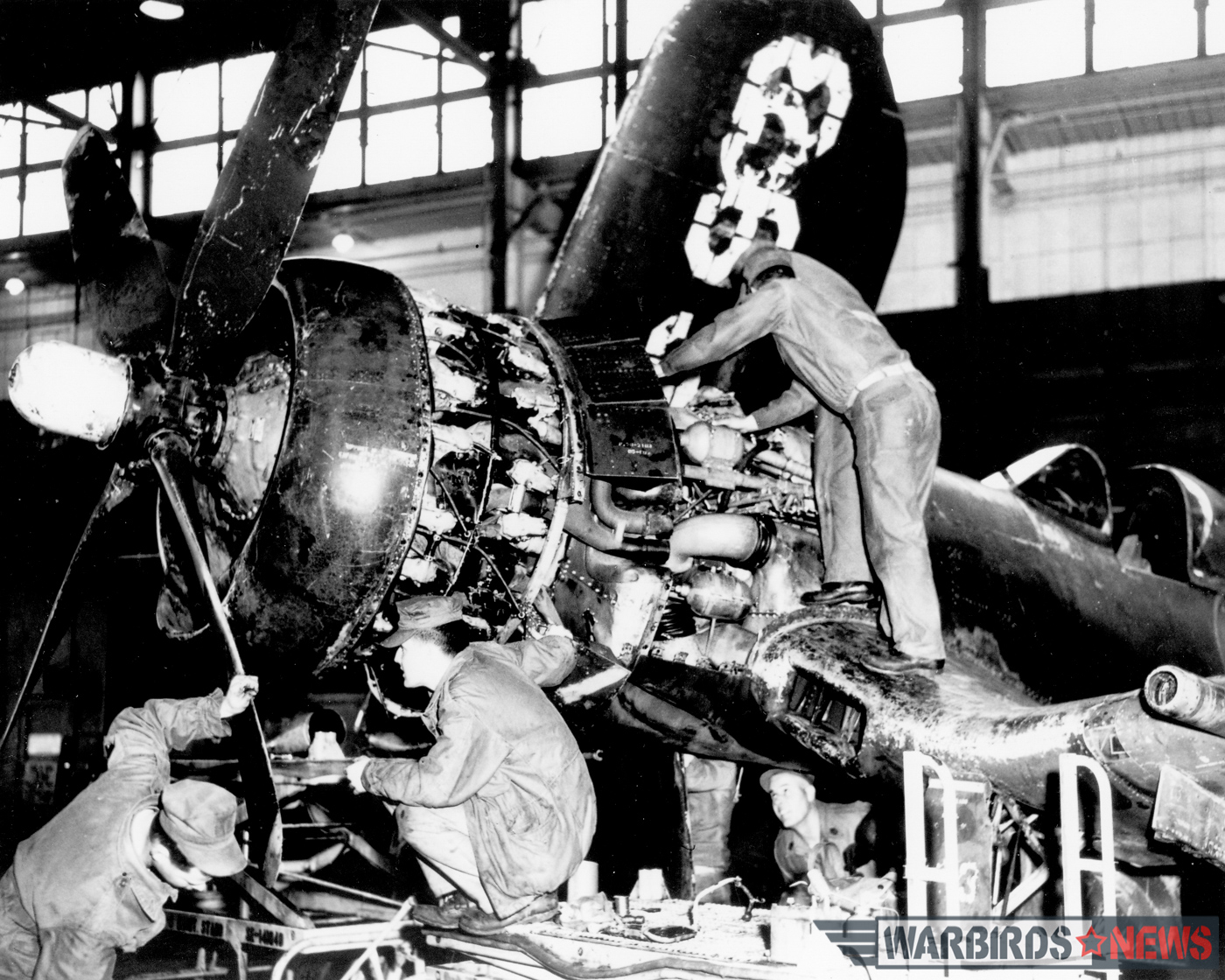 Bu.133693 undergoing maintenance at NAS Norfolk on April 13th, 1967. (photo via Stephen Chapis)