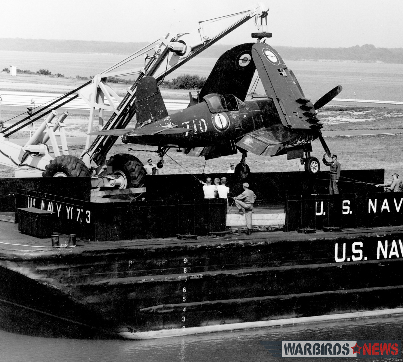Bu.133710 arriving by barge at MCB Quantico in August, 1964. (photo via Stephen Chapis)