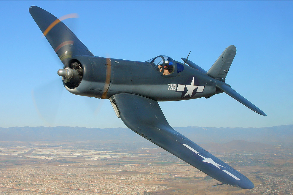 Planes of Fame's F4U-1A Bu.17999. (photo via Planes of Fame Museum)