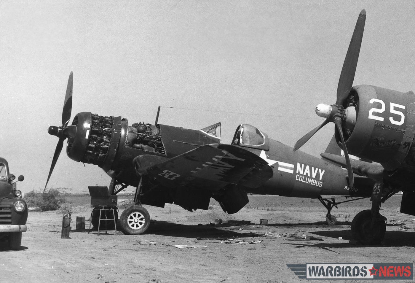 FG-1D Bu.92132 at NAF Litchfield Park in 1958. (Ed Maloney via Jim Sullivan)