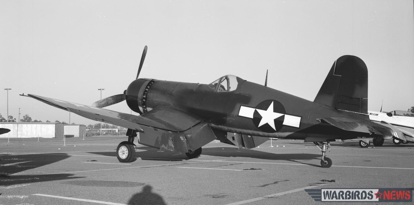 FG-1D Bu.92629 in Fresno, CA on August 19th, 1976. (William T. Larkins via Jim Sullivan collection)