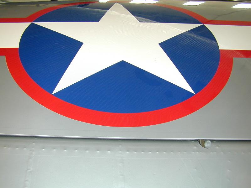 Fairchild PT-23HO_N52020 (6)_Star & Bar_Left Wing, Top