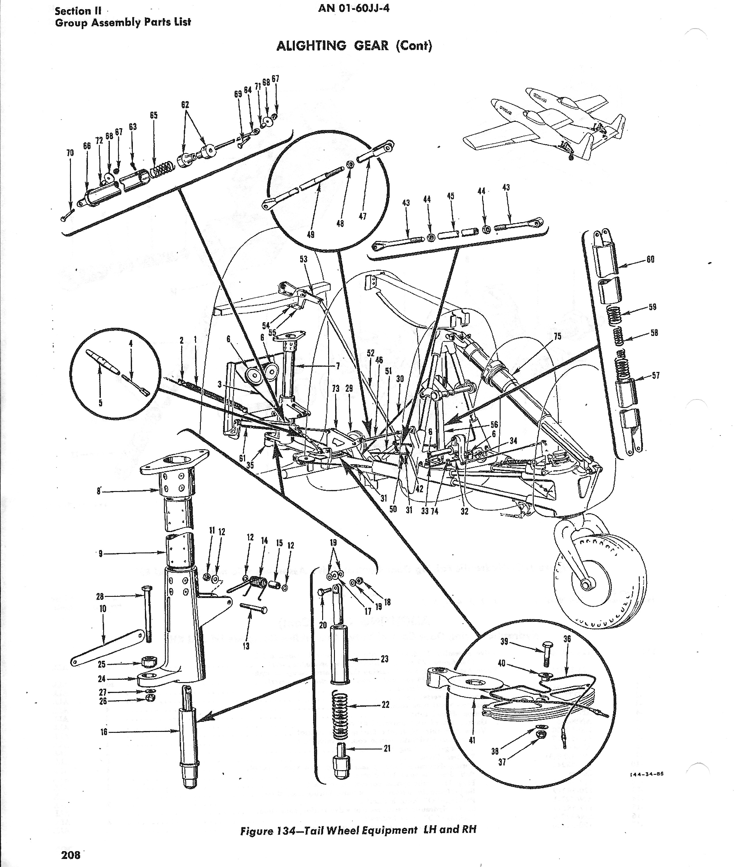 A good view from the Illustrated Parts Manual showing the tail wheel assembly. (photo via Tom Reilly)