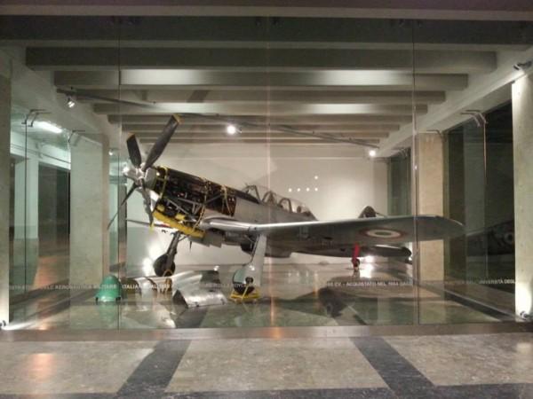 The exhibit of the Fiat G-59 4B at the University of Palermo. ( Image credit Università degli Studi di Palermo)