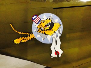 "One of the most iconic embed of WWII, the mighty The 1st American Volunteer Group (AVG) ""Flying Tigers"". ( Image credit Rachel Haney)"