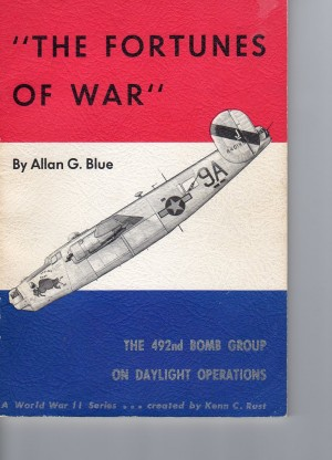 "Dust jacket for ""Fortunes of War"" by Allan Blue (image via Alex Mena)"