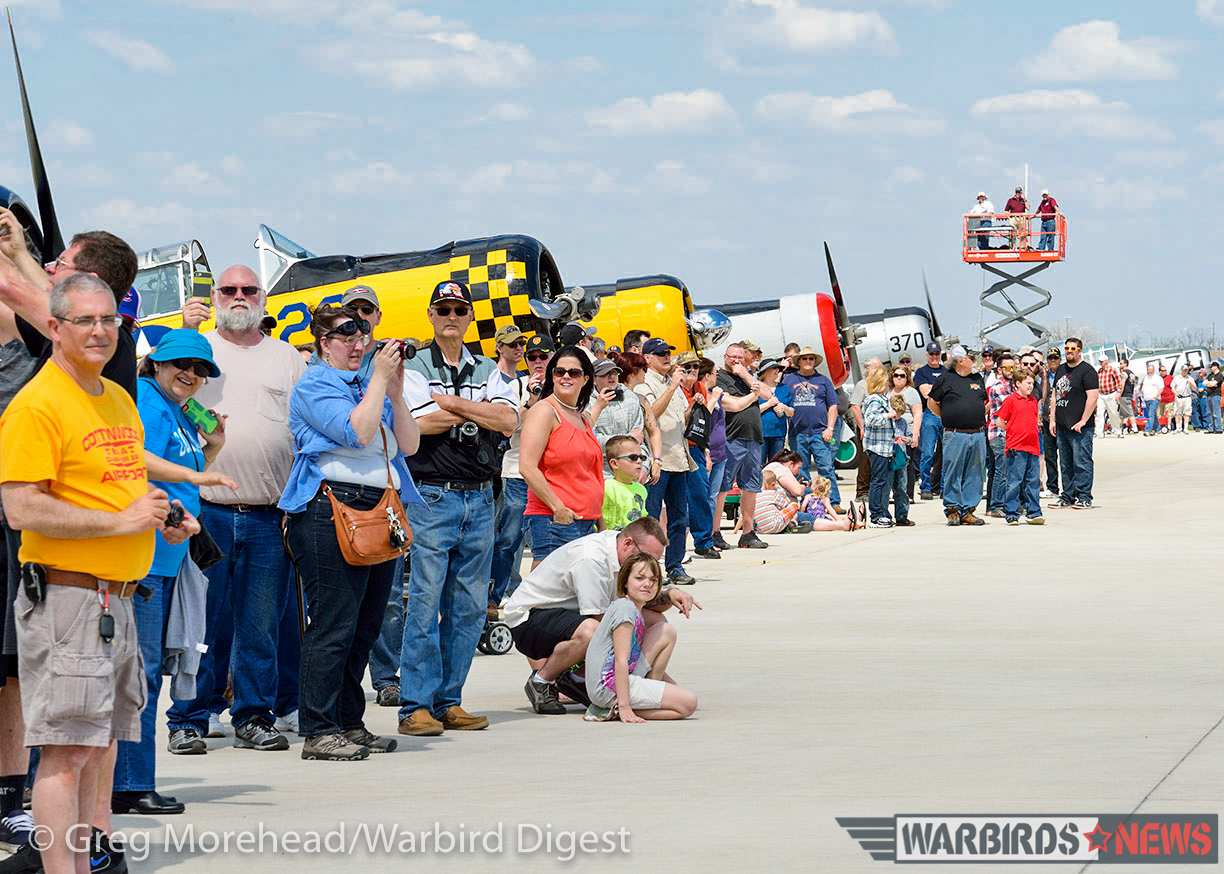 A view of the public, and some of the other warbirds which came to join in the fun at the Avenger gathering. (photo by Greg Morehead, courtesy of Warbird Digest magazine)