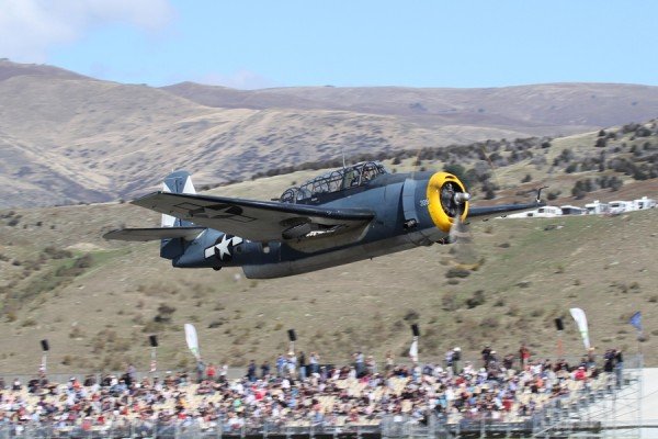 The Grumman Avenger over Warbirds Over Wanaka International Airshow (Image credit Gavin Conroy)