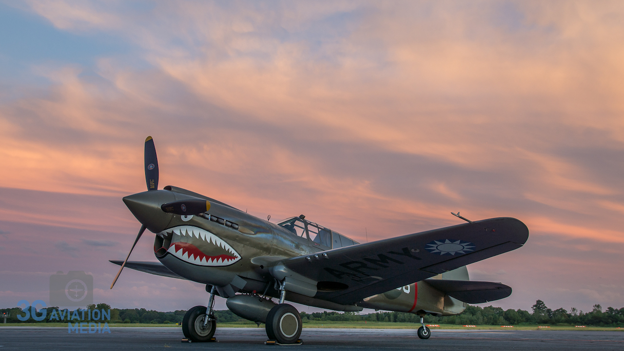 The Military Aviation Museum's P-40 captured by Douglas Glover during the 2015 workshop.