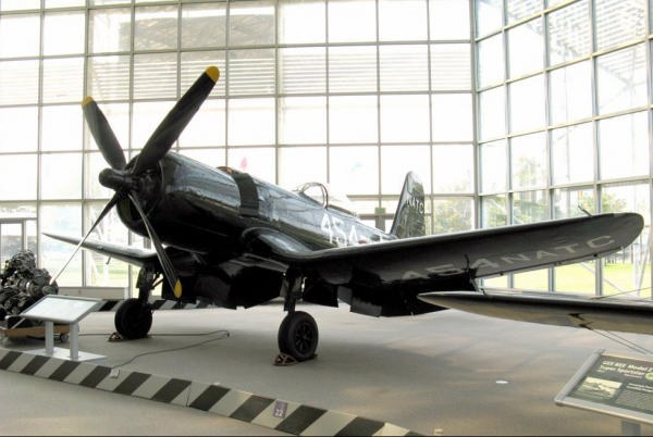 The Museum of Flight's  Goodyear F2G-1 Super Corsair now located in the Great Gallery.