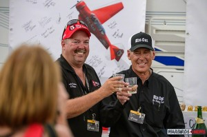 Gordo Sanders and Nick Macy celebrating their 10th and 25th Anniversaries of their first Reno Air Races. (Image Credit: Moose Peterson)
