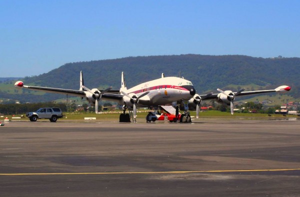 The HARS Super Connie at Albert Park (Woollongong). ( Image credit Phillip Capper from Wellington, New Zealand)