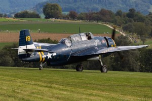 Grumman Avenger flew in from Switzerland for the show. (Image Credit: Andreas Zeitler)