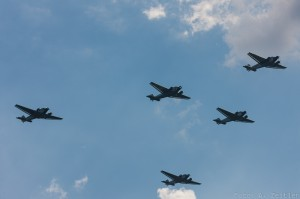 Formation flight of Junker Ju 52s (Image Credit: Andreas Zeitler)